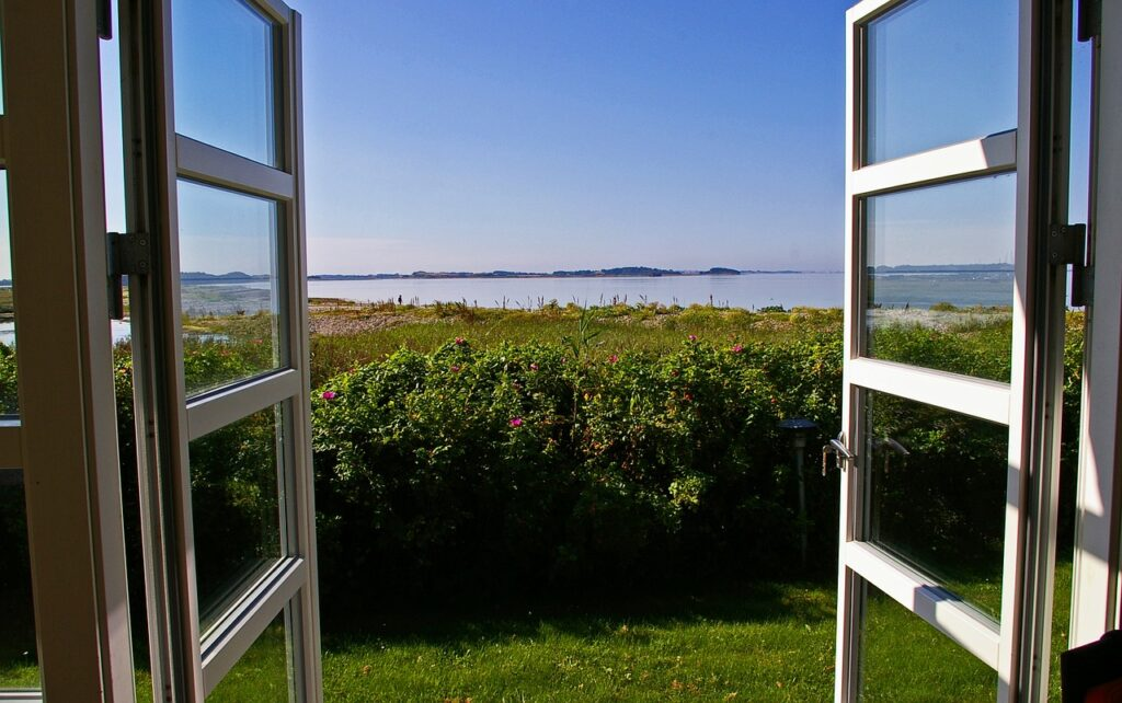 Der Blick aus dem Ferienhaus in Dänemark